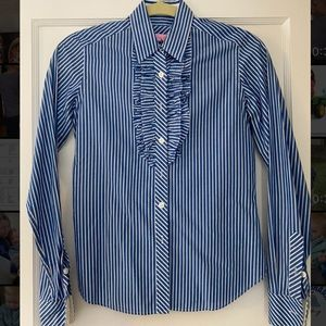 Lilly Pulitzer Blue & White Striped button down